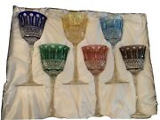 Faberge Xenia Imperial 6 Wine Glasses Hocks Goblets Set 2