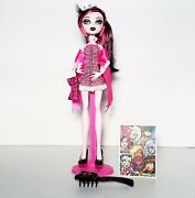 Monster High Dawn Of The Dance Draculaura Doll W/ Stand Complete Mattel Rare
