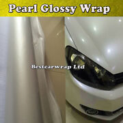 65ft X 5ft Pearlescent Glossy White Pearl Vinyl Car Wrap Graphics Film Air Free