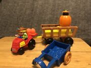 Retired Fisher Price Little People Fall Harvest Hayride Halloween Thanksgiving