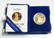 1987-w 1 Oz 50 Proof Gold American Eagle W/ Ogp Box And Coa Free Shipping