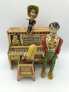 1940s Land039il Abner Dog Patch Piano Litho Tin Wind Up Toy Andldquopartsandrdquo See Pics And Desc
