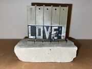 Banksy - Walled Off Hotel - Wall Sculpture - Love