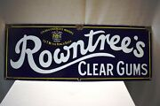 Vintage Rowntreeand039s Clear Gums Signe Porcelaine Andeacutemail Cacao And Chocolat Makers Ad