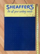 Vintage Sheaffer's Luxury Fountain Pens Writing Metal Advertising Display Sign
