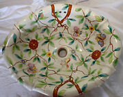 Sherle Wagner Sink Summer Garden Pattern,roll Holder,switch Cover,soap Dish