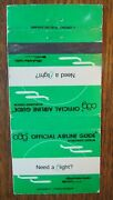 Official Airline Guide Matchbook Matchcover -f28