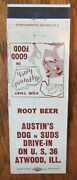 Atwood, Illinois Austin's Dog And Suds Drive-in Root Beer 1960s -f