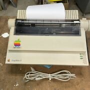 Apple Imagewriter Ii Printer With Serial And Power Cables
