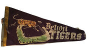 Pennant Baseball Briggs Stadium Detroit Tigers 1950 Is 27 Inches Long Man Cave