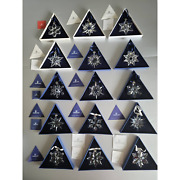 Crystal Snowflake Ornament Lot Of 13 + 2