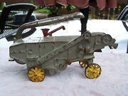 Antique 1930and039s Arcade Cast Iron Mccormick-deering Toy Farm Thrasher