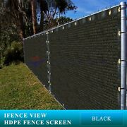 Ifenceview 19 Ft Width Black Fence Privacy Screen Patio Top Sun Shade Cover