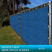 Ifenceview 19 Ft Wide Blue Fence Privacy Screen Patio Top Sun Shade Cover Canopy
