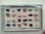 Vintage A Bit Of Usa S24-2 Rock And Mineral Specimen Sample Chart Collection