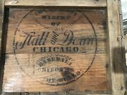 Stall And Dean Baseball Uniform Jersey Antique Vintage Old Wooden Box Crate Ball