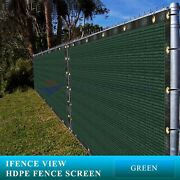 Ifenceview 20 Ft Wide Green Fence Privacy Screen Patio Top Sun Shade Cover