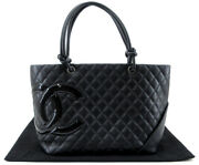 Cambon Line Large Tote Bag Coco Mark A25169 Calf Leather _2888