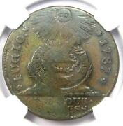 1787 Fugio Cent 1c Colonial Copper Coin - Certified Ngc Vf25 - Rare