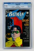 Batman 427 Cgc 9.6 White Pages Nm+ A Death In The Family Part 2 Of Storyline
