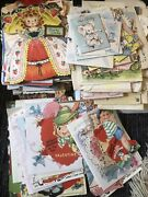 Lot Of 220 Vintage Greeting Cards Valentine's Christmas And More
