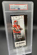 Psa 8 Justin Fields Debut Ticket 1st College Game Bears 2021 Rookie Rc Low Pop