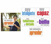 Inspired Minds Self-esteem Booster Spanish Posters, 11 X 17 Inches, Set Of 5