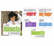 Inspired Minds Inner Strength Booster Spanish Posters, 11 X 17 Inches, Set Of 5