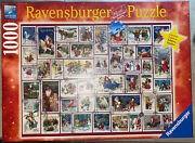 2018 Ravensburger 1000 Pc Limited Edition Puzzle Christmas Wishes Stamps Behr