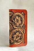 Leathercraft Patterns Diy Designs Long Wallet Paper Template Drawing Tools Cl002