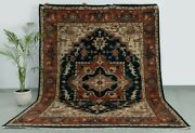 8x10 Navy/beige/red Floral Design Rug Turkish Classic Rug Hand Knotted Ps-3