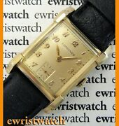 Vintage 40and039s Longines Solid 14k Gold Original Sub-seconds Dial Good Condition