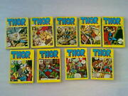 Thor Lot Of 9 All Issues 1980s Turkish Rare Turkey Comic
