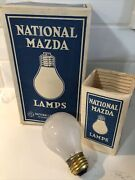 Antique Box Of 6 Ge National Mazda Lamps 25w Light Bulbs New Old Stock 1920s 30s