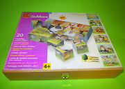 Vintage Eichhorn 20pcs Wooden Cube Puzzle 3396 Animals Pictures With Box Rare