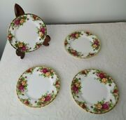 Lot Of 4 Royal Doulton Albert Old Country Roses - 6 1/4 Bread Butter Plates