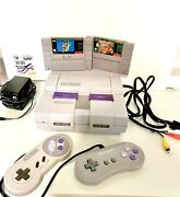 Super Nintendo Snes Original Console With 2 Controllers And 2 Games
