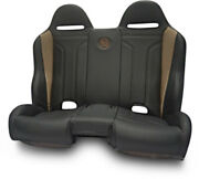 Bs Sand - Pebecbdtr - Performance Front/rear Bench Seat Diamond - Black/red