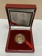 2001 Sa Mint 1/4oz Proof South Africa Gold Krugerrand Coin W/ Box And Coa