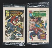 1993 Drakes Cakes Marvel Jubilee And Spider-man / Wolverine Mini Comic Books 1and2
