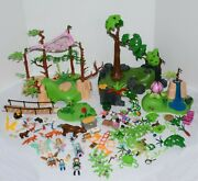 Playmobil 9132 Fairy Forest 9135 Fairy Glen Parts Pieces Figures Huge Lot As Is