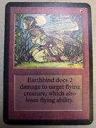 Magic The Gathering Alpha Earthbind Lp Mtg Huge Collection Sell Off 1x X1