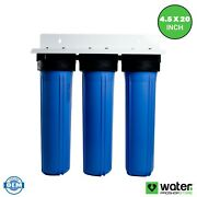 3 Stage - Anti-scale Descaler Whole House Water Filtration System - 1 Inlets