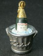 Stephan Frost Hand Painted Pewter Thimble - 2000 Champagne Bucket