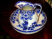 Vintage Royal Doulton Pitcher And Bowl Daisy Pattern Rare