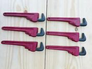 6 Cast Iron Pipe Wrench Bottle Openers Hand Held Red Beer Pop Soda Bar Handyman