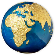 2021 Blue Marble Gold, 3oz Silver Spherical Globe Coin-planet Earth-5 Barbados