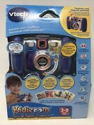 Vtech V Tech Kidizoom Spin And Smile Twist Connect Kids Camera Blue New Sealed