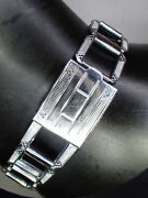 Vintage 1930and039s Pontiac Watch Band 18mm High Detail Art Deco