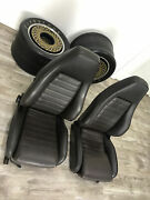 Porsche Sport Seats 1980s - Two Factory Seats - Brown Leather - 911, 930, 944